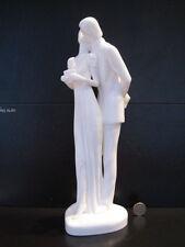 ROYAL DOULTON ENGLAND IMAGES HAPPY ANNIVERSARY HN3254 WEDDING FIGURE WHITE CHINA