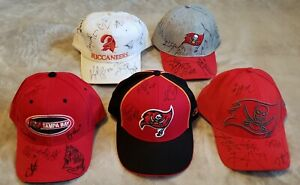 Tampa Bay Buccaneers Autographed Hats (Lot Of 5)