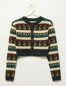 Urban Outfitters Max Cable Cardi med  Cropped 12 bnwt