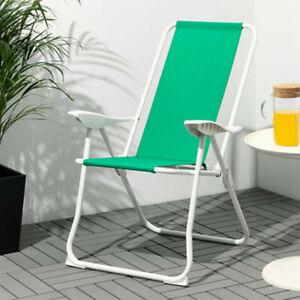 Garden Armchair Folding Low Portable Camping Beach Chair Outdoor BBQ