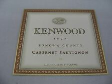 Wine Label: KENWOOD 1997 Cabernet Sauvignon Sonoma California