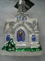"""Old World Christmas """"Sparkling Cathedral"""" Ornament-GLASS Church Wedding OWC"""