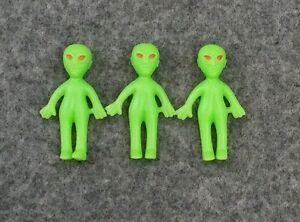 Miniature Glow in the Dark Alien Figure - Set of 3 - Extraterrestrial Beings