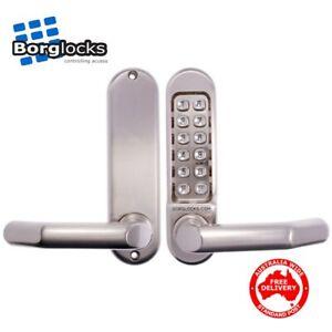 Borg Digital Lockset 5001 Stainless Steel Lock-Push Button-BL5001SS-Free Postage