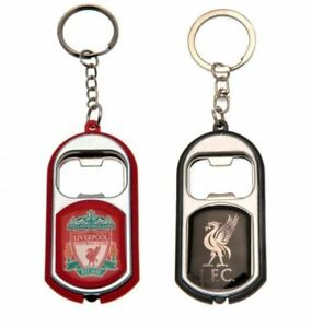 Liverpool FC KEY RING TORCH BOTTLE OPENER Black OR Red Official Merchandise