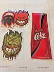 Spitfire Skateboard Stickers, Set of 3, Burn Club, Burn Forever, FREE SHIP 25011