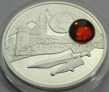 NIUE ISLAND 1 $ 2011 AMBER ROUTE KALININGRAD SILVER PROOF WITH COA