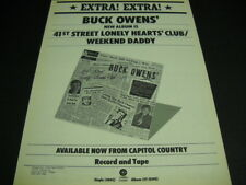 BUCK OWENS Extra! Extra! 41st Street Lonely Hearts Club 1975 PROMO POSTER AD