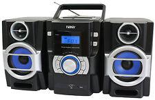 Portable Naxa Mp3 / Cd Player Pll Fm Radio Detachable Speakers Usb Input Npb-429