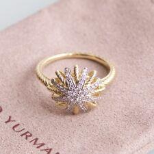 David Yurman Starburst Ring with Diamonds 18K Gold size 6.5
