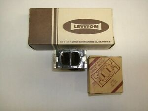 Vintage Leviton Kwikchange Pilot Light Receptacle Outlet 754 Brown