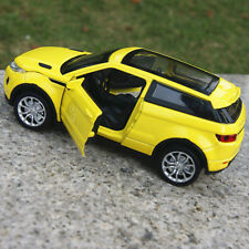 Model Car Toys Land Rover Evoque 1:32 New Sound&Light Alloy Diecast Yellow Gifts