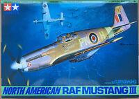 Tamiya 61047 NORD AMERICA RAF Mustang III 1/48 Kit modello NUOVO INSCATOLATO