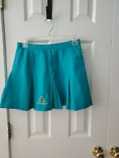 Le Coq Sportif Womens Vintage Teal  Pleated Tennis Golf Skirt Sz 10 rooster logo