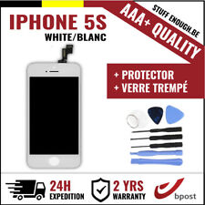 AAA+ LCD SCREEN SCHERM ÉCRAN WHITE BLANC & VERRE TREMPÉ +TOOLS FOR IPHONE 5S