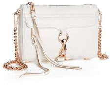 Rebecca Minkoff Leather 'Mini Mac' Convertible Shoulder Clutch, White