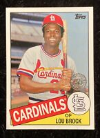2020 TOPPS UPDATE LOU BROCK ST LOUIS CARDINALS 35 th ANNIVERSARY 85TB-43