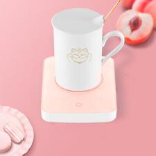 Cup Mug Warmer Pink Tea Milk Coffee Drink Heater Plate Auto Shutoff Office Home