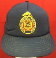 Vintage 1980's Niagara Regional Police Force Blue Snapback Mesh Trucker Hat