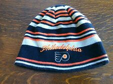 NHL Philadelphia Flyers Beanie Hat Team Colors One Size Knit Toque Cap Wear Ears