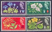 Great Britain 1964 BOTANICAL CONGRESS Set (4) Unhinged Mint, SG 655-8