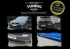 Bodykit Frontspoiler Heck Schweller ABS für VW Golf 6 GTI Edition35 Carbon Optik