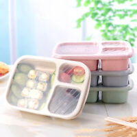 3 Compartments PP Lunch Box Food Storage Container for Kids Adults Picnic Useful