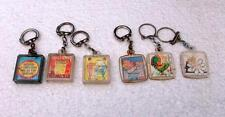 6 French Retro Plastic & Metal Lenticular Advert Keyrings Key Rings Key Chains !