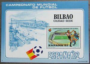 Spain 1982 Football World Championship, Souvenir Sheet, Bilbao