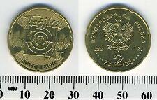 "Poland 2012 - 2 Zlote Brass Collectible Coin - 50th Ann. Polish Radio ""Trojka"""