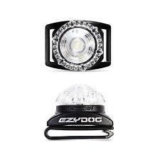 EzyDog Adventure Light Flashing Dog Safety LED Light - WHITE / CLEAR