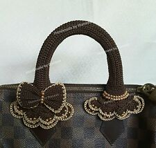 Handle Cover Crochet Louis VuittonLV  SPEEDY  25 30 35 darkbrown