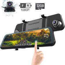 "12"" Zoll Dual Dashcam Auto Kamera FHD 1080P Rückspiegel Touchscreen DVR LKW Cam"