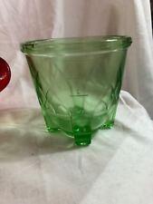 Vaseline Glass Egg beater Measuring Cup No eggbeater