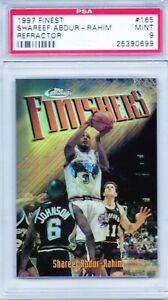 SHAREEF ABDUR-RAHIM 1997 Finest (FINISHERS) Refractor #165 Grizzlies 5/289 PSA 9