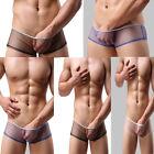 M/L/XL Sexy Transparent Men Mesh Briefs Underwear Shorts Boxer Underpants Trunks