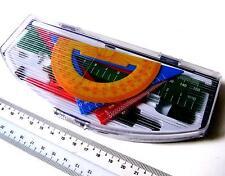 NAVY Geometry Mathematical Maths Set Kit Protractor Pencil Compass Ruler 10p