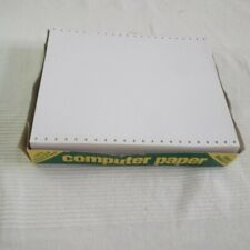 Dot Matrix Printer Paper - Continuous Track Feed - Vintage Computer - 500 Sheets