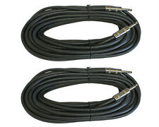 2 PACK PRO AUDIO 12 GA GAUGE 1/4 to 1/4 mono PA DJ speaker cable wire 50 ft