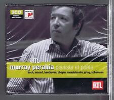 MURRAY PERAHIA 3 CDS SET NEW PIANISTE ET POETE BACH MOZART CHOPIN