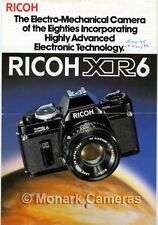 Ricoh XR-6, Rikenon Lens & Accessory Sales Brochure. Others Listed.