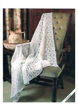 Vintage Crochet Pattern Babies Lacy Shawl PATTERN ONLY 3-Ply and 4-Ply ±006