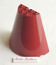 Lego Roof Half Cone 8 x 4 x 6 Dark Red 7665