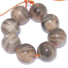 8 LARGE SHINY Peach/Gray Sunstone Moonstone Round Beads 14mm K3212