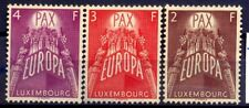 "LUXEMBOURG  STAMPS ,1957  YEAR NO GUM   "" PAX-EUROPE CEPT "" CV 200 EURO"