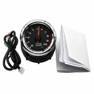 """2"""" 52mm Car Tachometer Gauge Tacho RPM Meter 0~10000RPM 7 Colors LED Universal"""