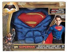 SET COSTUME SUPERMAN BATMAN VS SUPERMAN DC COMICS CON MUSCOLI TAGLIA S RUBIE'S G