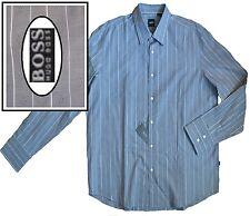 NWT Hugo Boss Black Label by Hugo Boss Striped Gray Sport Shirt Lucas Size XXL