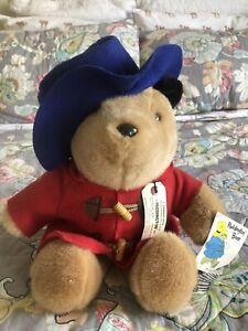 """Vtg Paddington Bear Red Coat Blue Hat Plush 16"""" Eden Toys With Tags 1981 Euc"""