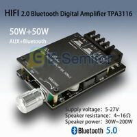 AUX+Bluetooth 2x50W HIFI Stereo Digital TPA3116 Audio Power Amplifier w/ Filter